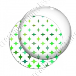 Image digitale - Etoile 4 branches 02  ton vert