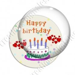 Image digitale - Happy birthday - Gâteau