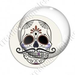 Image digitale - Halloween - Tête de mort illustrée 06
