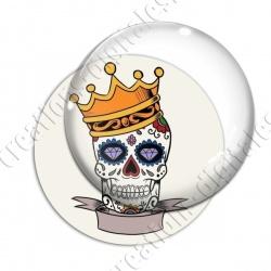 Image digitale - Halloween - Tête de mort illustrée 09