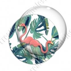 Image digitale - Flamant rose feuillage 01