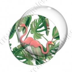 Image digitale - Flamant rose feuillage 02