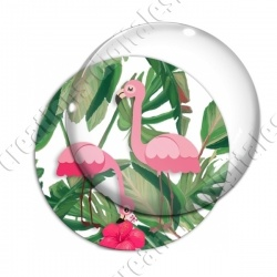 Image digitale - Flamant rose feuillage 03