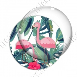 Image digitale - Flamant rose feuillage 04