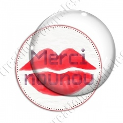 Image digitale - Merci nounou - Bouche rouge