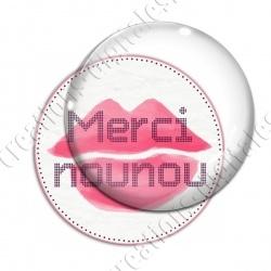 Image digitale - Merci nounou - Bouche rose