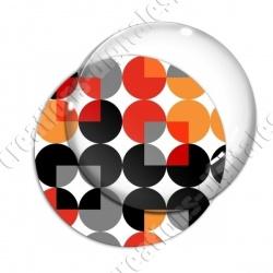 Image digitale - Motif 70s - Ronds rouges 02