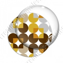 Image digitale - Motif 70s - Ronds marrons 02