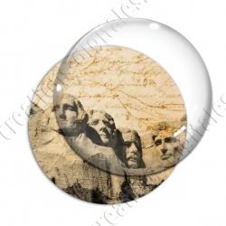 Image digitale - USA vintage - Mont rushmore