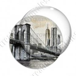 Image digitale - USA vintage - Pont de Brooklyn