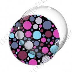 Image digitale - Ronds multi-tailles - Rose et bleu