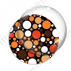 Image digitale - Ronds multi-tailles - Marron et orange