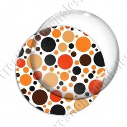 Image digitale - Ronds multi-tailles - Marron et orange 02