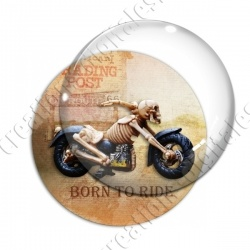 Image digitale - Motard Born to ride 02