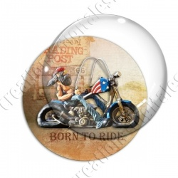 Image digitale - Motard Born to ride 03