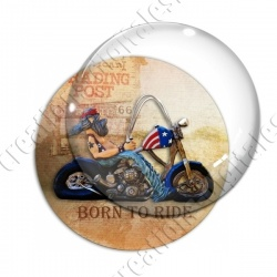 Image digitale - Motard Born to ride 04