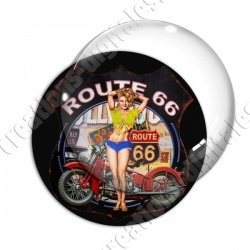 Image digitale - Pin-up 02 route 66