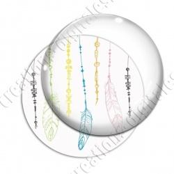 Image digitale - Plumes multicolores - Fond blanc