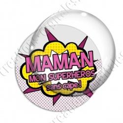 Image digitale - Comics - Maman superhéros rose