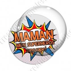 Image digitale - Comics - Maman superhéros orange