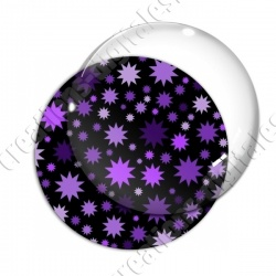 Image digitale - Etoiles multi-tailles - Violet