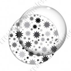 Image digitale - Etoiles multi-tailles - Gris et blanc