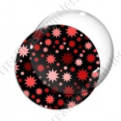 Image digitale - Etoiles multi-tailles - Rouge et noir