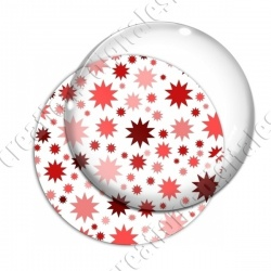 Image digitale - Etoiles multi-tailles - Rouge et blanc