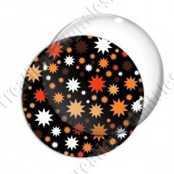 Image digitale - Etoiles multi-tailles - Orange et noir