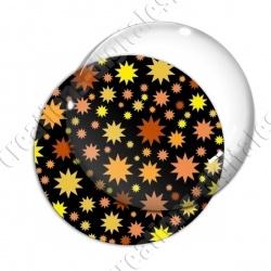 Image digitale - Etoiles multi-tailles - jaune et noir