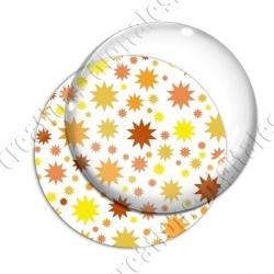 Image digitale - Etoiles multi-tailles - Jaune et blanc
