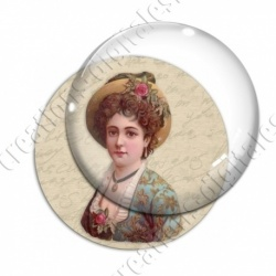 Image digitale - Dame au chapeau