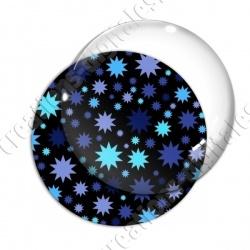 Image digitale - Etoiles multi-tailles - Bleu et noir
