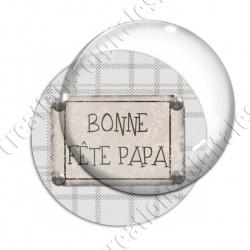 Image digitale - Bonne fête papa - fond couture