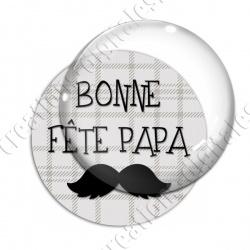 Image digitale - Bonne fête papa - fond couture moustache