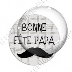 Image digitale - Bonne fête papa - fond couture moustache 2