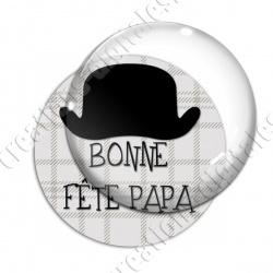 Image digitale - Bonne fête papa - fond couture chapeau