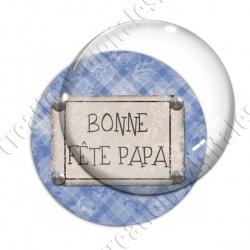 Image digitale - Bonne fête papa - fond jacquard bleu