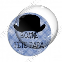 Image digitale - Bonne fête papa - fond bleu chapeau