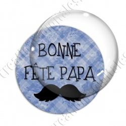 Image digitale - Bonne fête papa - fond bleu moustache