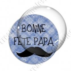 Image digitale - Bonne fête papa - fond bleu moustache 2