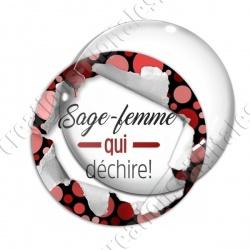 Image digitale - Sage-femme qui déchire