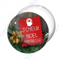 Image digitale - Joyeux Noël Maitresse Sapin 01