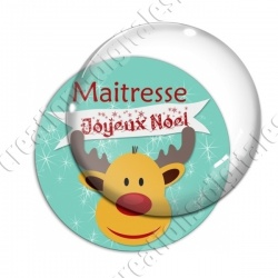 Image digitale - Joyeux Noël Maitresse fond renne