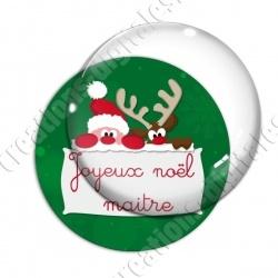 Image digitale - Joyeux Noël Maitresse fond vert