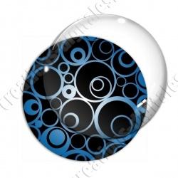 Image digitale - Ronds effet arabesques fond noir