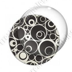 Image digitale - Ronds effet arabesques fond gris foncé