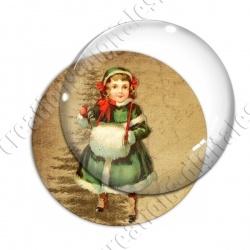 Image digitale - Vintage enfant - Noël 06