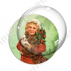 Image digitale - Vintage enfant - Noël 07