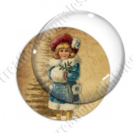 Image digitale - Vintage enfant - Noël 09